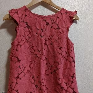 Lace Dusty Rose Blouse D121